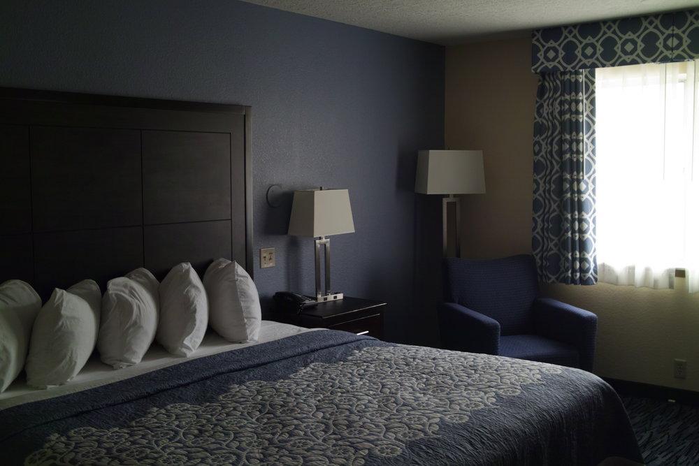 Ma chambre d'hôtel, dans son jus...
