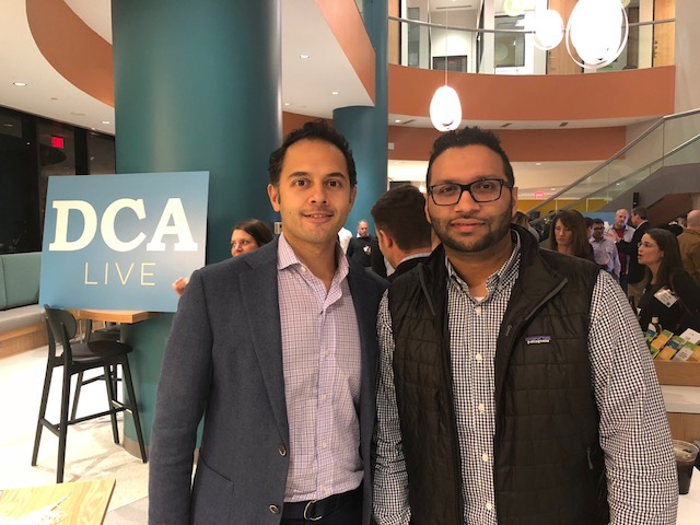 Chethan Rao from our partner Newmark was there and is pictured here with honoree Upside Door's founder Bobby Saini.