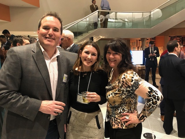 Awesome partner and friend Elizabeth Shea from SpeakerBox was there and helped us honor Industry Dive CEO Sean Griffey.  Here they are with our new friend Andreea Slusarciuc.