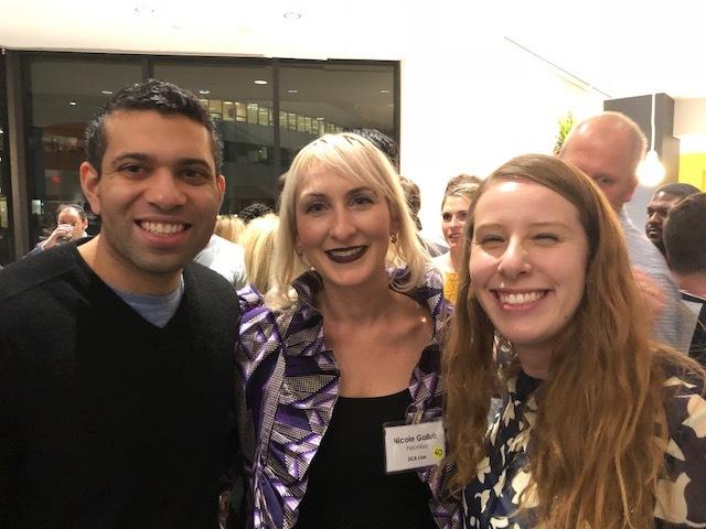 Honorees Ajay Kori of Urban Stems, Nicole Gallub of Pelonkey and Amelia Friedman of Hatch were on hand.
