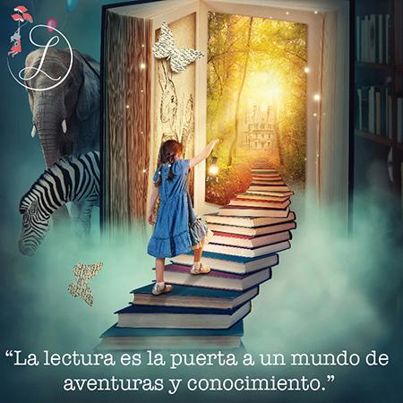 """Frases Célebres: """"La lectura es la puerta a un mundo de aventuras y conocimiento"""""""