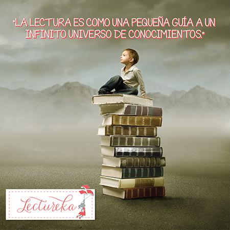 """Frases Célebres: """"La lectura es como una pequeña guía a un infinito universo de conocimientos"""""""