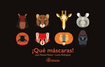 Una serie de máscaras creadas por el diseñador colombiano, Lucho Rodríguez, son acompañadas de rimas y adivinanzas que el niño podrá armar para conformar este libro atípico.
