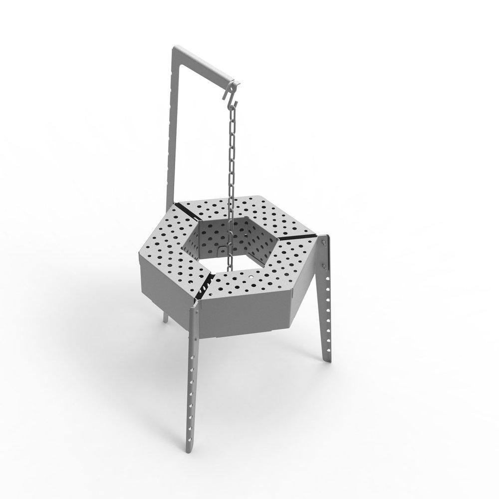 MIG Stove+ 3 grills - 602,00 CAD / Circular multi-cooking platform