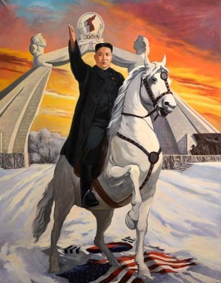 Kim Jong-un triumphant.