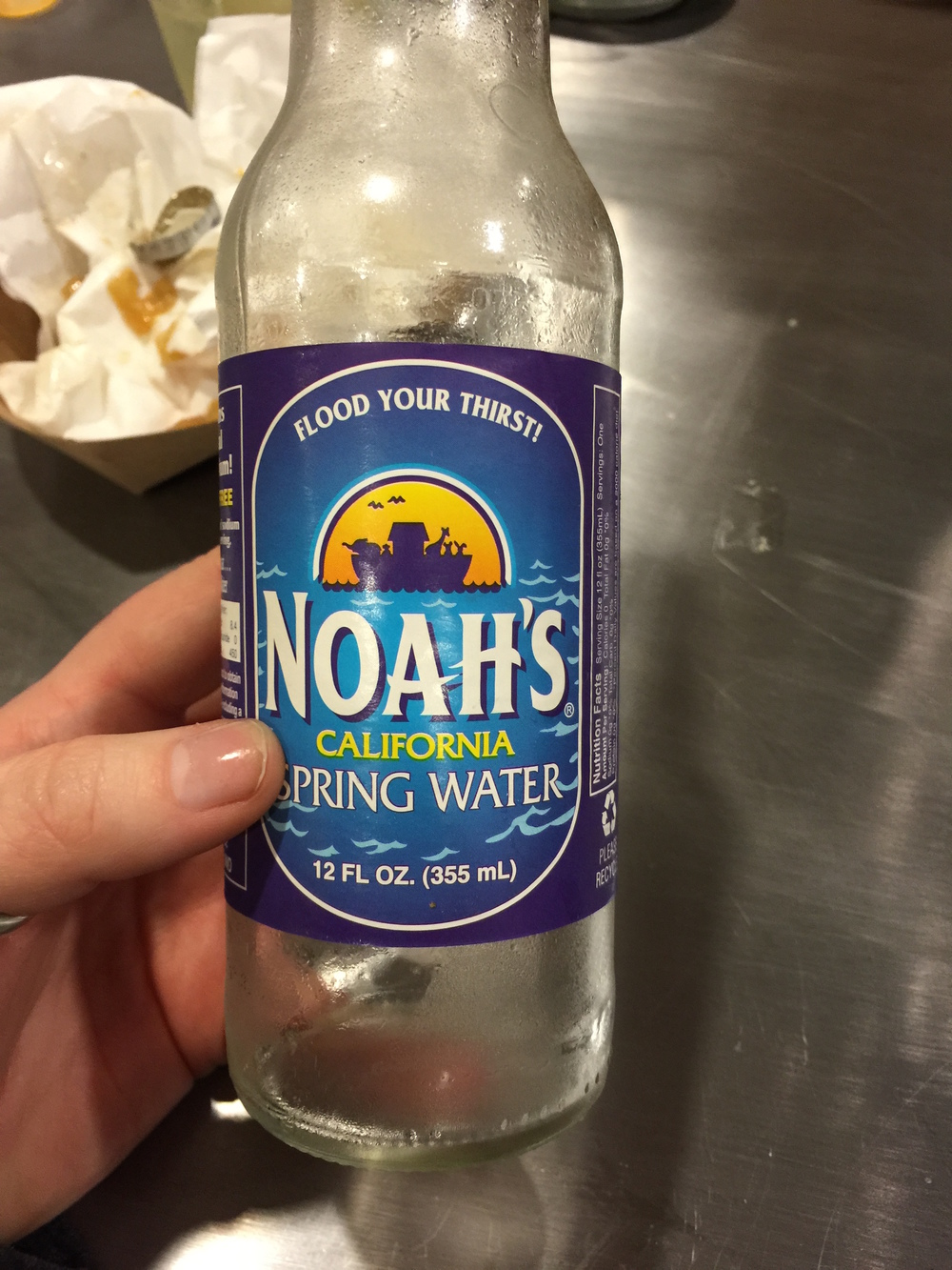 Noah's Water, flooding your thirst since the Deluvian age.