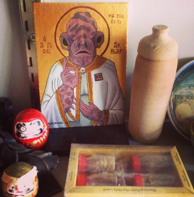 St. Ackbar: patron saint of Ewoks, traps, rebels.