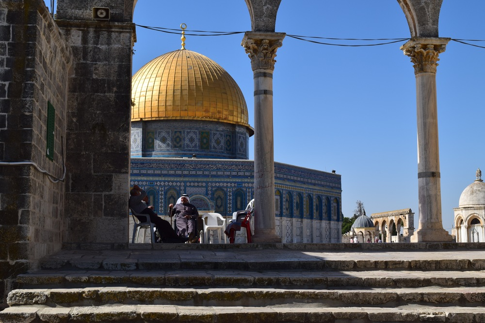 "Another debate is raging over prayer on ""the Temple Mount,"" the site of the Golden Domed Shrine of Omar, a Muslim holy site. PHOTO: Ken Chitwood"