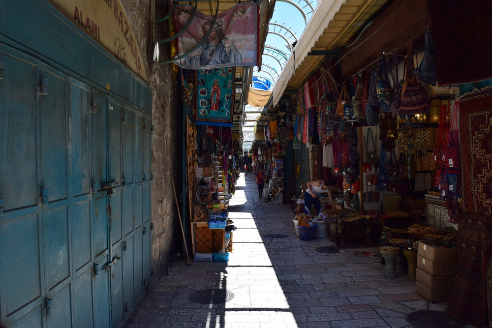 The Razzouk home is located on one of the crowded, bustling, streets of the Old City in Jerusalem. PHOTO: Ken Chitwood