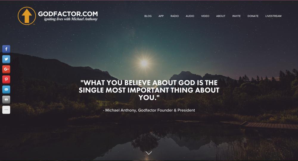 www.godfactor.com  | Featured on CNN