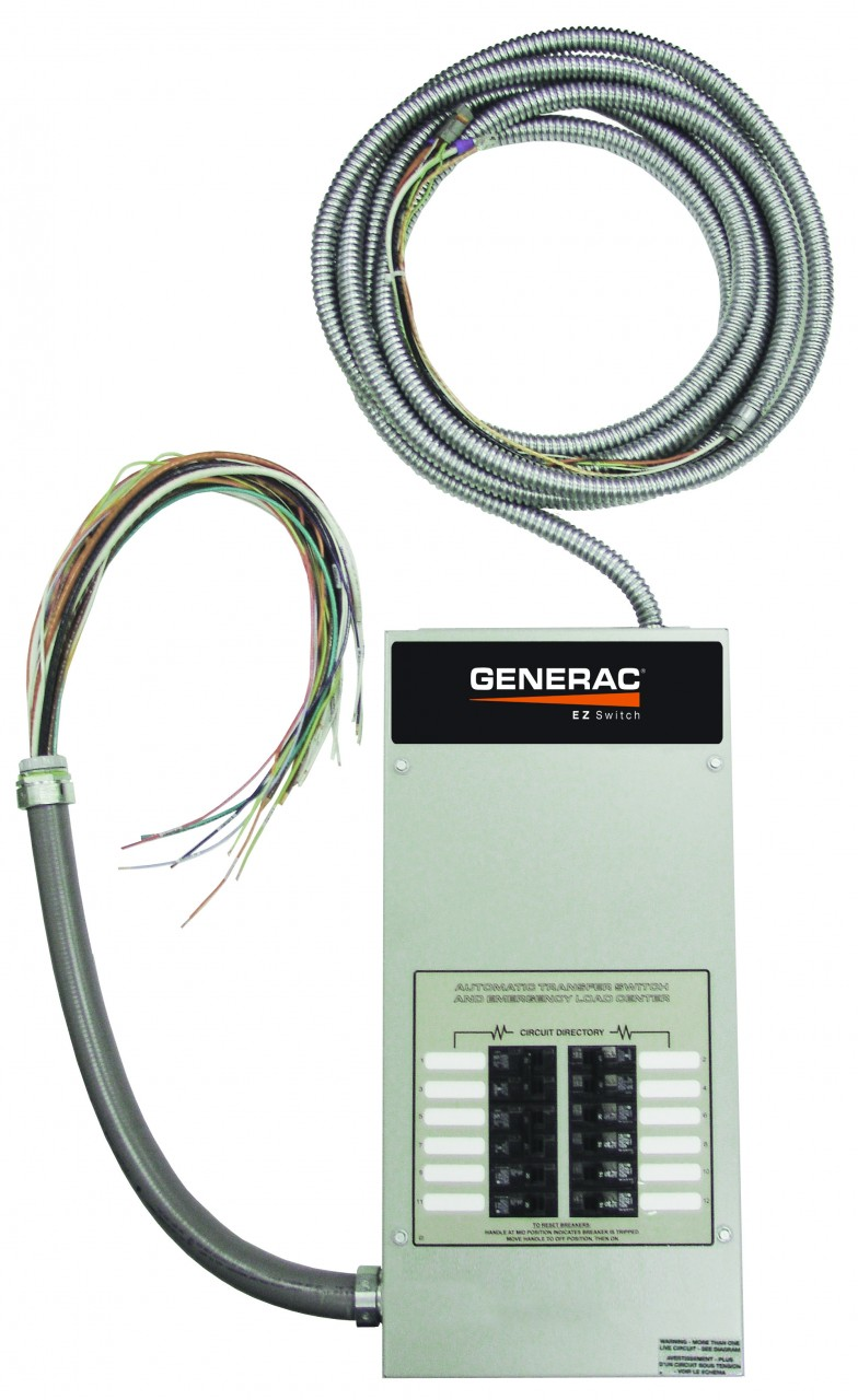 The Automatic Transfer Switch safely disconnects the utility power during an outage, and delivers electricity from your backup generator to your house.