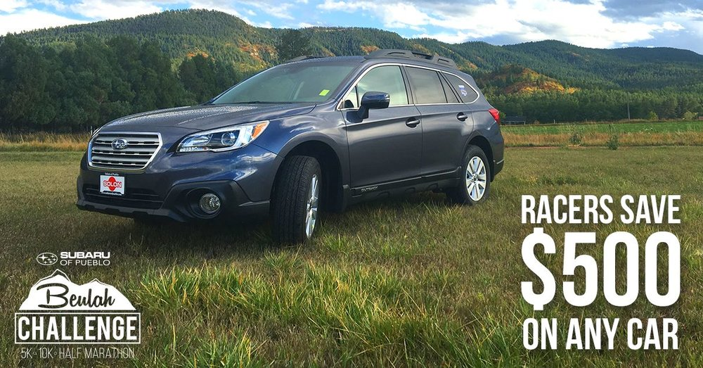 Bring your race bib to Subaru of Pueblo and save $500 on ANY new or used car! Offer valid through October 31st, 2017. First person to redeem promo will receive a FREE season pass to Monarch Mountain ski area!