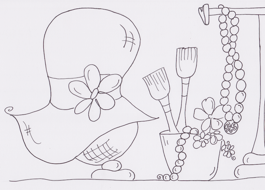 Sweetea Coloring Page