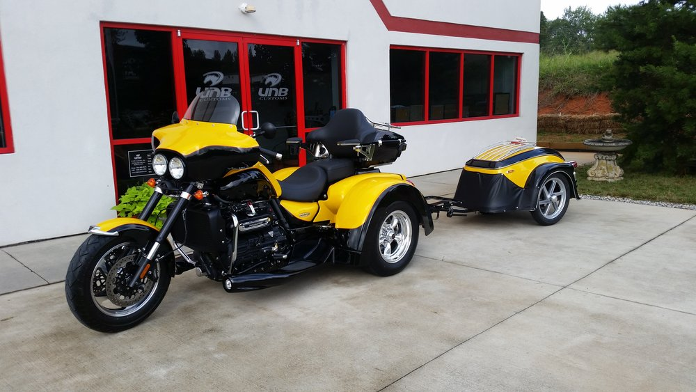Triumph Rocket III trike with trailer