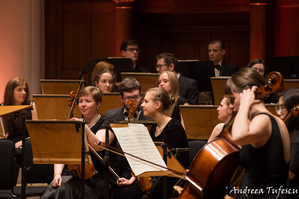 Classical concert photography - musicians in a pre-concert candid shot