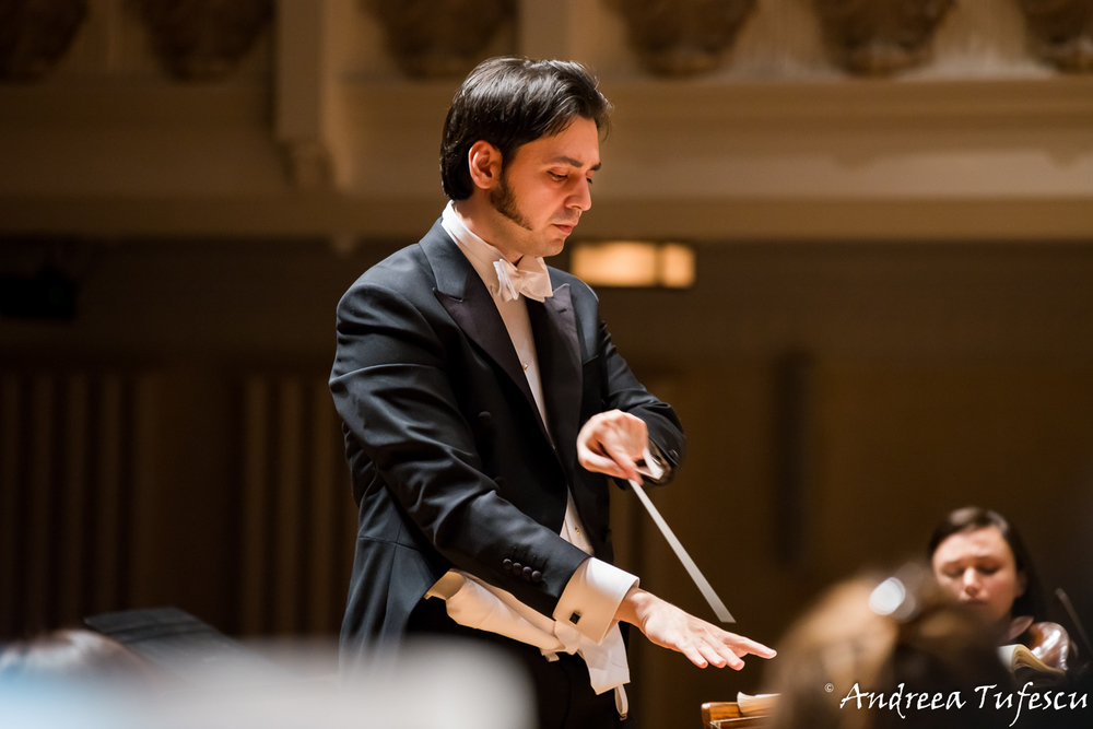 Portrait of conductor Babak Kazemi at the Cadogan Hall