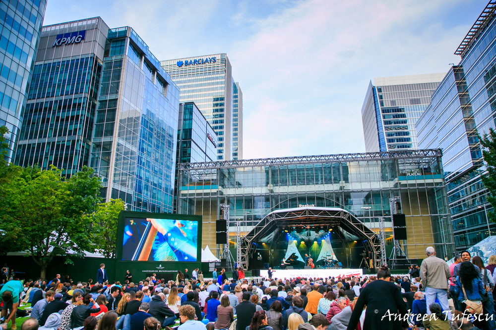 Canary Wharf Jazz Festival by London photographer Andreea Tufescu