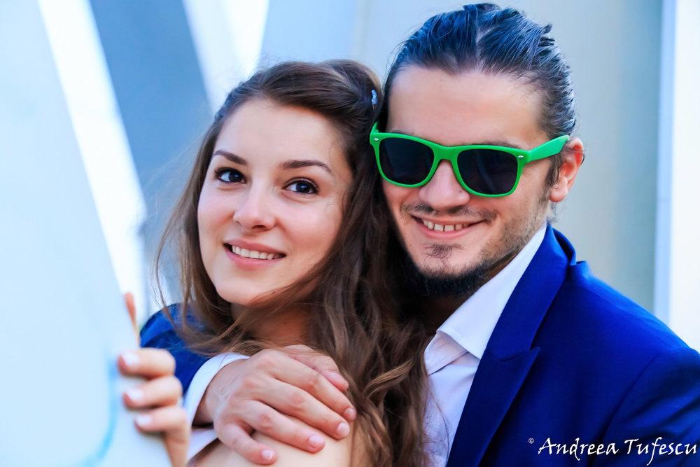 Trash the Dress Wedding Photoshoot by London photographer Andreea Tufescu - Happy newlyweds R & D