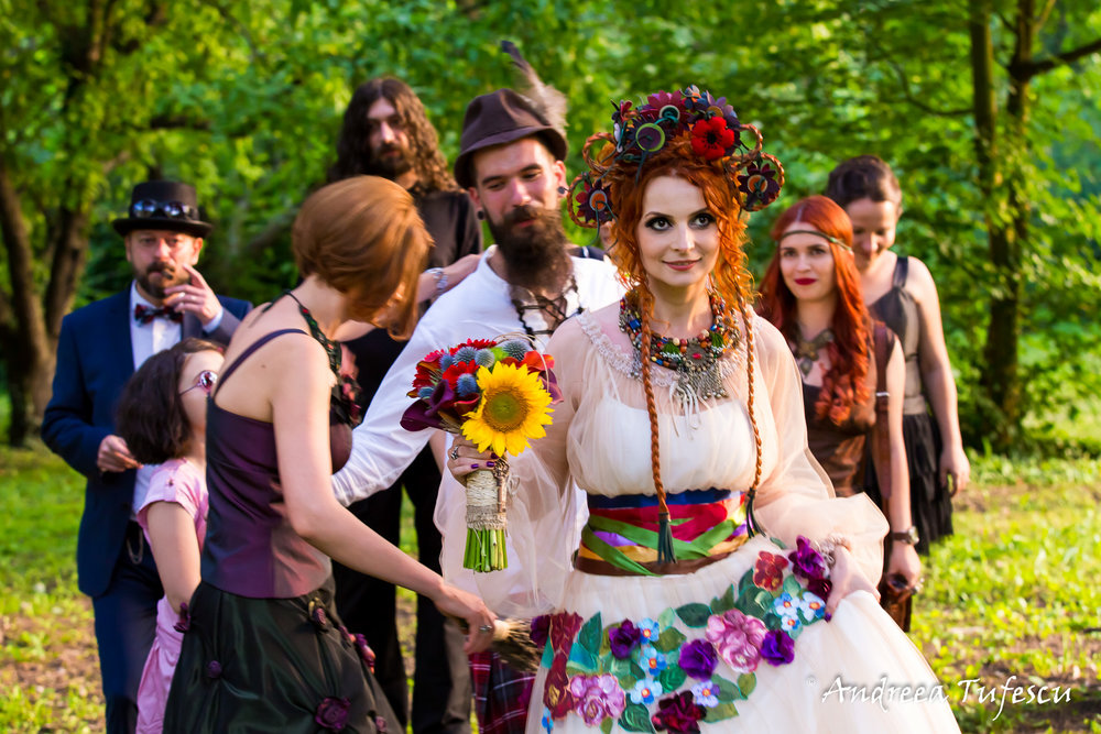 Wedding Photography by Andreea Tufescu - C & B Alternative Wedding - Steampunk Fairytale wedding Bucharest