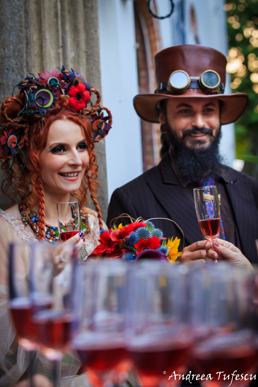 Wedding Photography by Andreea Tufescu - C & B Alternative Wedding - Steampunk Fairytale wedding Bucharest