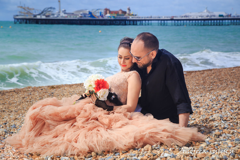 Wedding Photography by Andreea Tufescu - A & A Trash the Dress - Rock the Frock session Brighton UK