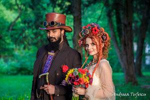 f4518c87ff380 Wedding Photography by Andreea Tufescu - C   B Alternative Wedding -  Steampunk Fairytale wedding Bucharest