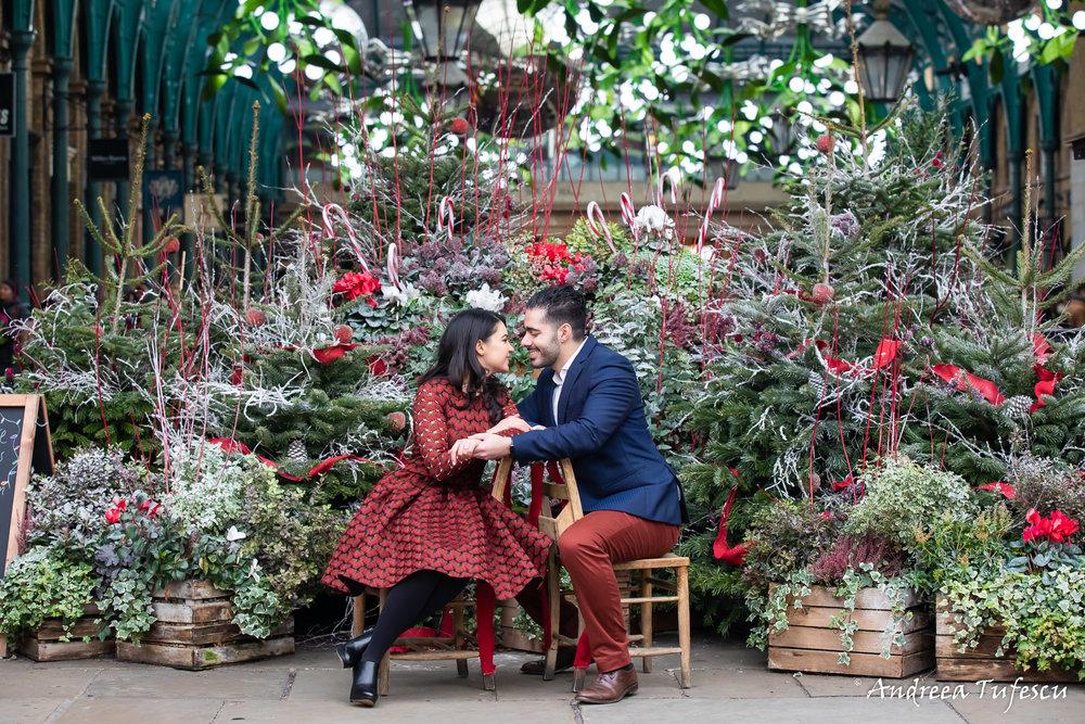 Yuliya & Hayk Engagement Photoshoot Central London - images by Andreea Tufescu