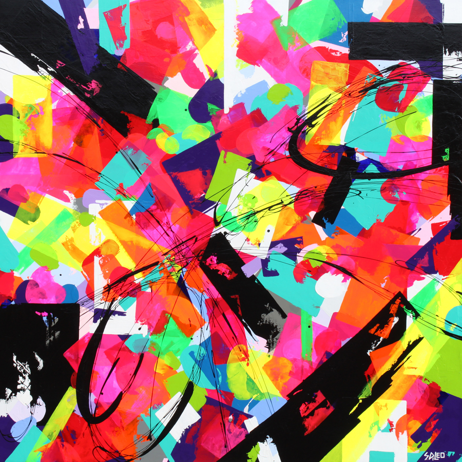 "utopia 60"" x 60"" acrylic on wood  SOLD"