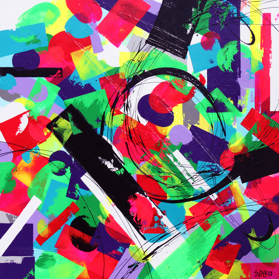 """shift 48"""" x 48"""" acrylics on canvas available for purchase"""