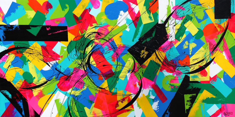 "going home 96"" x 48"" acrylic on wood available for purchase at  Denison Gallery"
