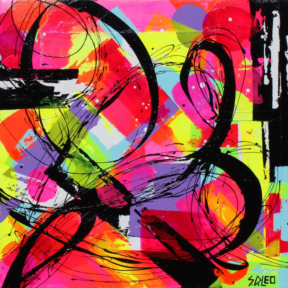 """le jardin 30"""" x 30"""" acrylic on canvas SOLD"""
