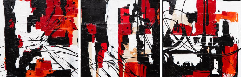 "cityscape 36"" x 12"" acrylic on canvas SOLD"