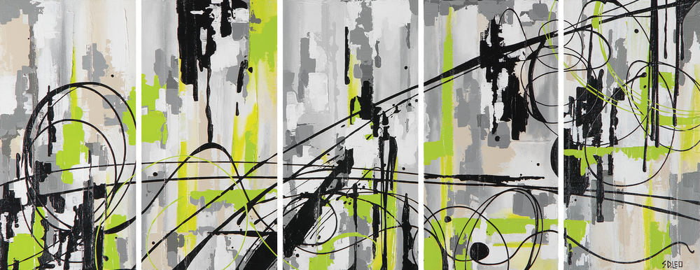 "electric 60"" x 24"" acrylic on canvas SOLD"