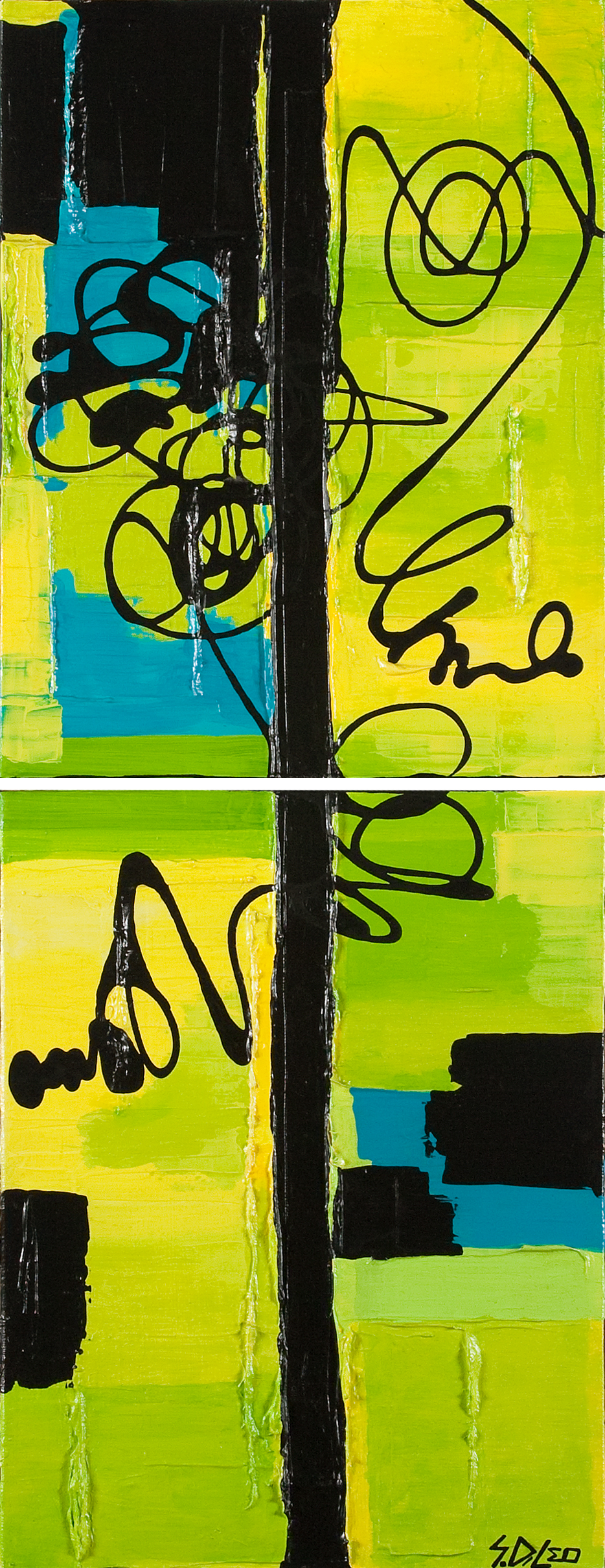 "vert 14"" x 36"" acrylic on canvas  SOLD"