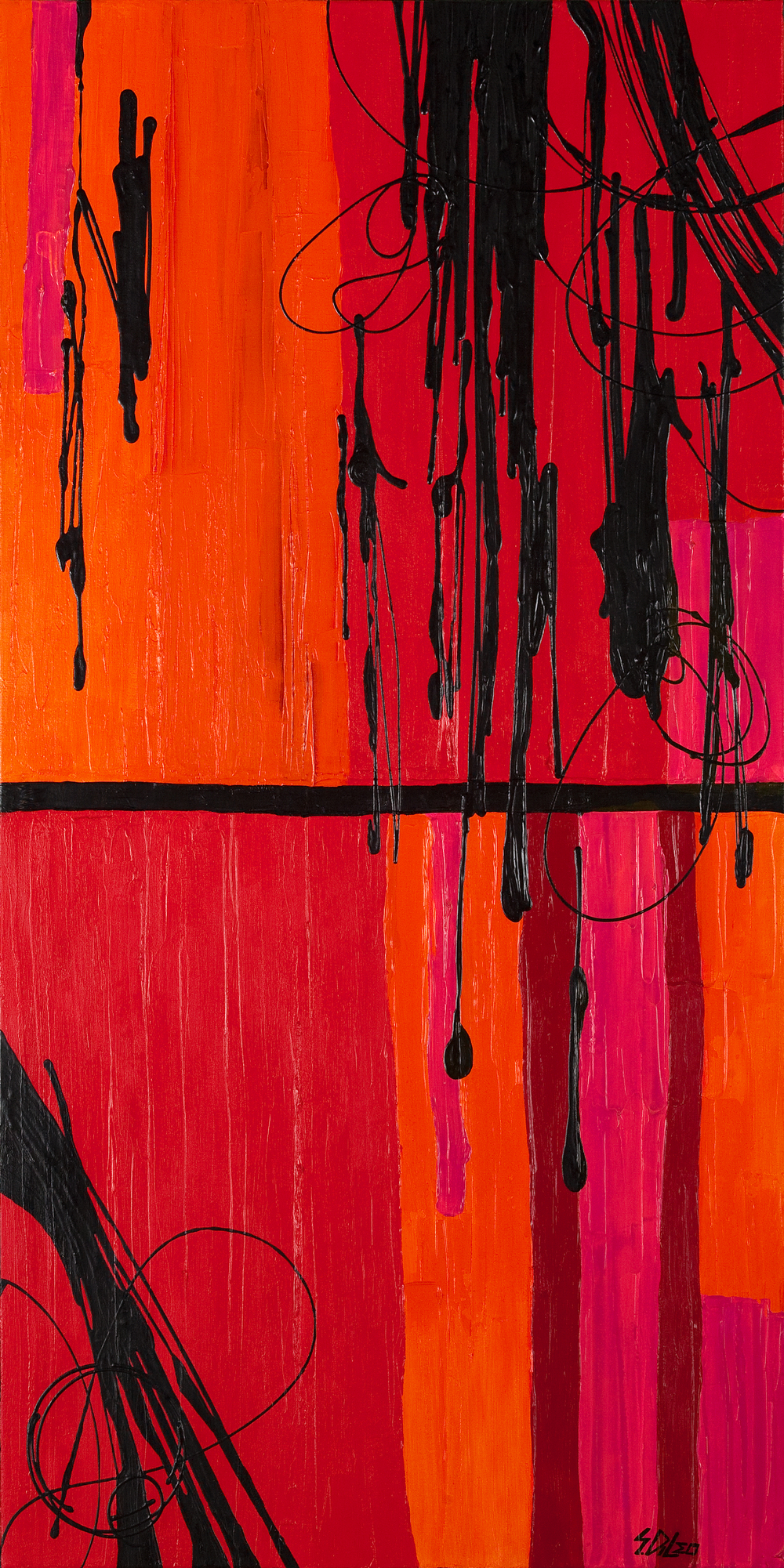 "rouge 30"" x 60"" acrylic on canvas SOLD"