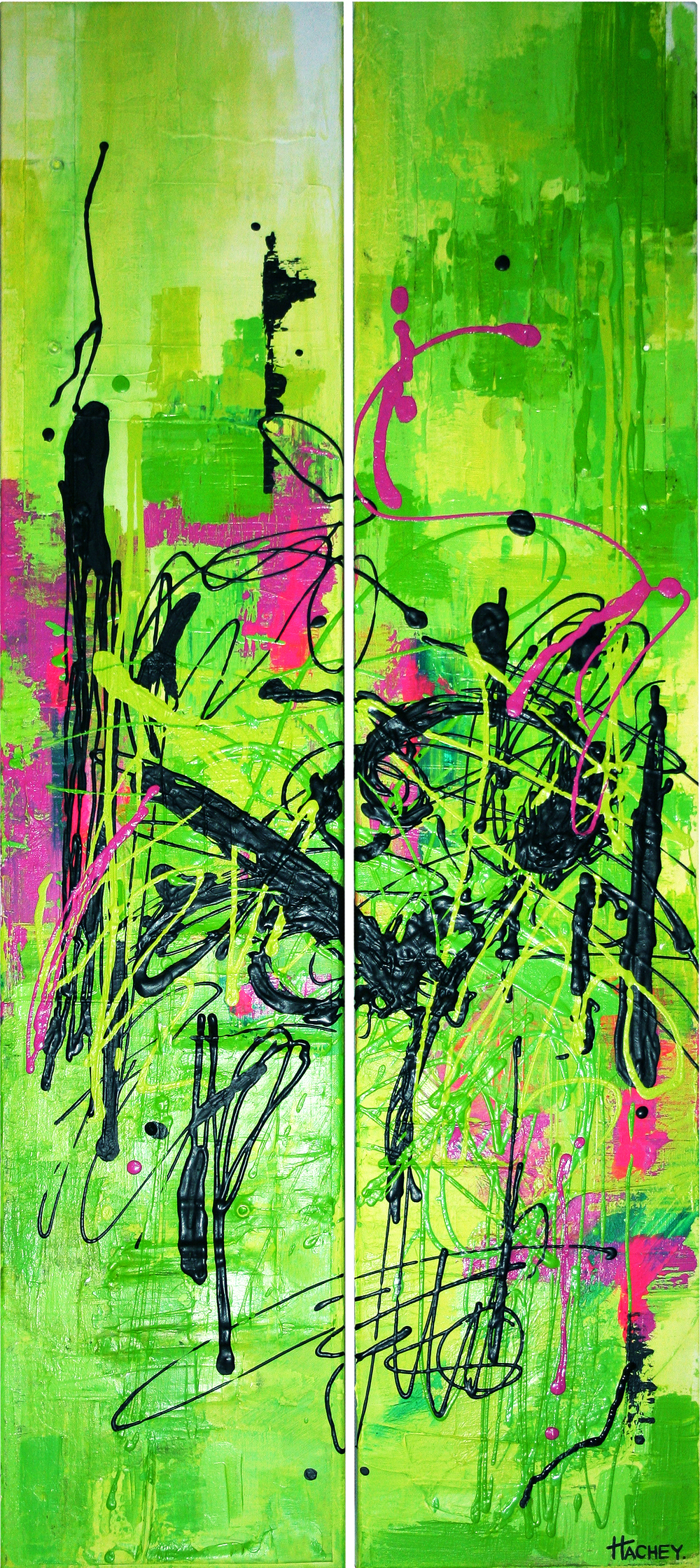 "retro 80s 20"" x 48"" acrylic on canvas  SOLD"