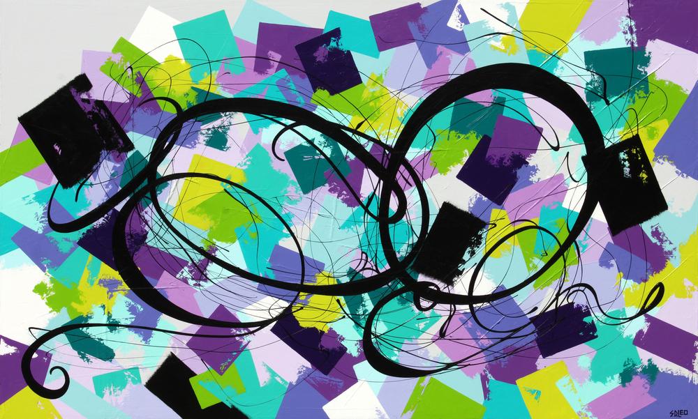 "my secret garden 60"" x 36"" acrylic on canvas SOLD"