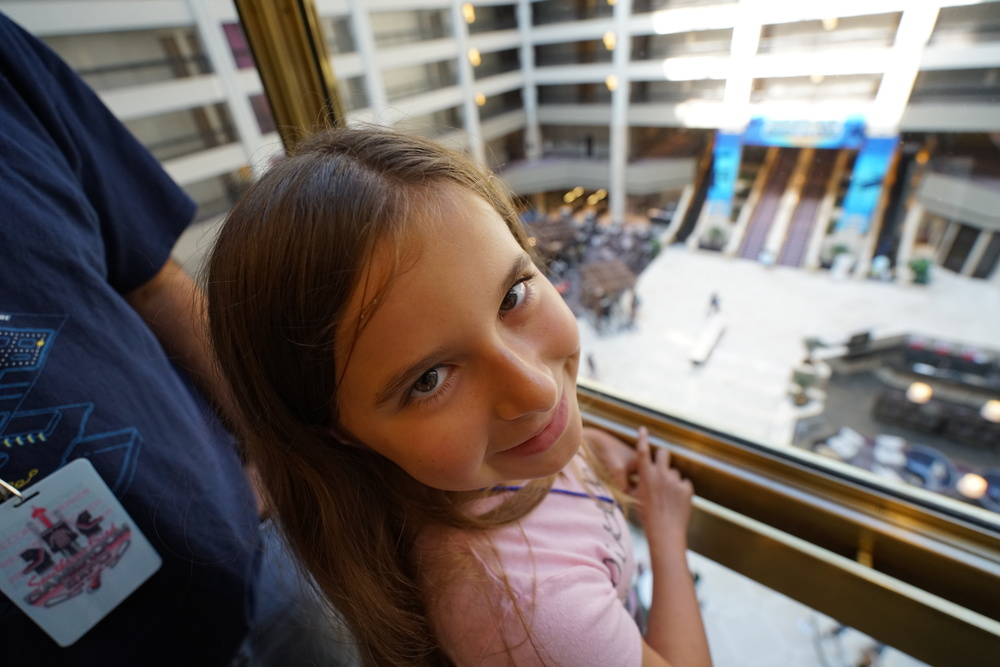 Who doesn't like a glass elevator, except for maybe Wreck-It Ralph? Jena approved, though.