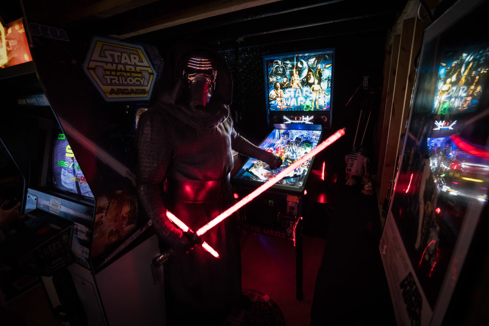 A certain dark-side force user got to stop in for some pinball action to many of our Star-Wars themed guests' excitement!