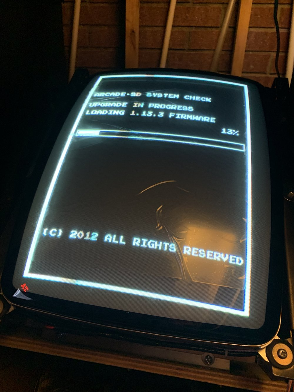Yep, that's the factory plastic on that CRT…. :)