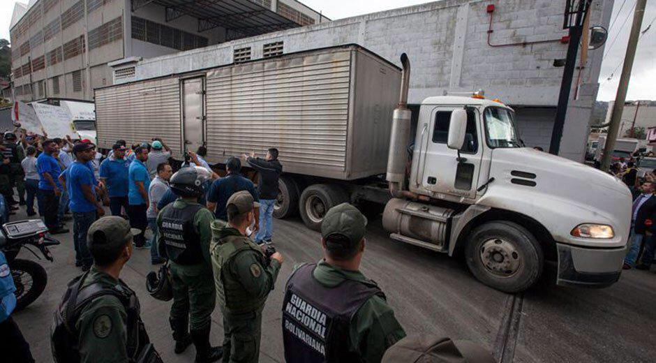 Trabajadores Pepsi Cola de La Yaguara | Foto: cortesía
