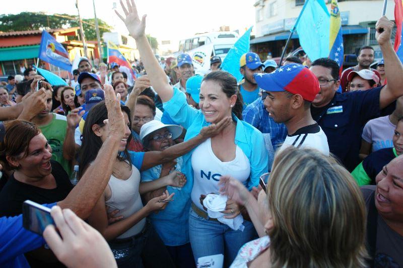 Maria Corinacompartió con los habitantes del estado Monagas Foto:Orlibeth Rodríguez