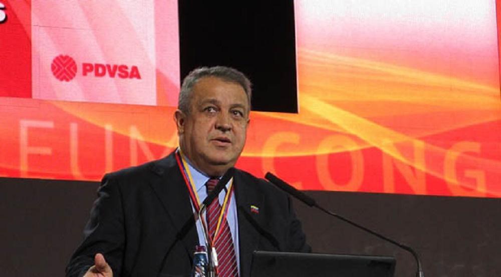 Eulogio del Pino, presidente de Pdvsa. Foto: archivo.