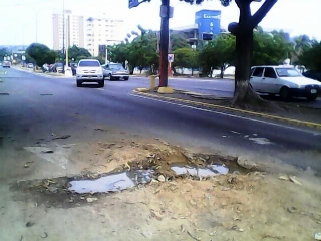 Las fallas en el pavimento han sido denunciadas por los usuarios de la Avenida Foto: Juan Afonso