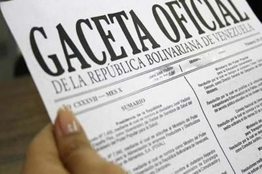 La ordenanza es de una serie de decretos presidenciales publicados en la Gaceta Oficial N° 40788. Foto: archivo.