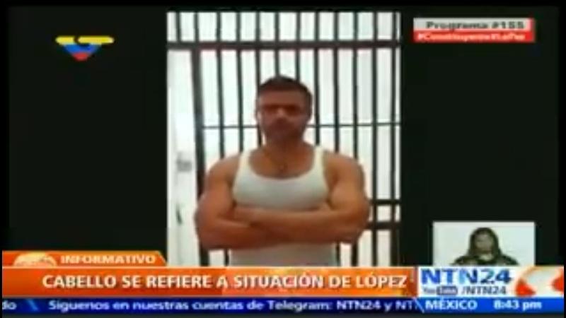 """""""Con el Mazo dando"""" difundió el vídeo de Leopoldo López en Ramo Verde Foto: Cortesía @NTN24"""