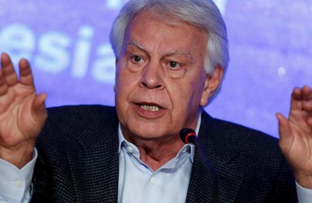 El expresidente español Felipe González. EFE/Archivo