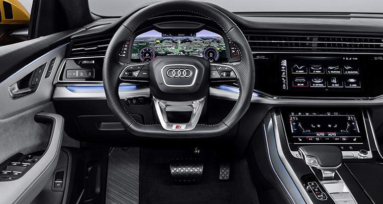 Interior del Audi Q8