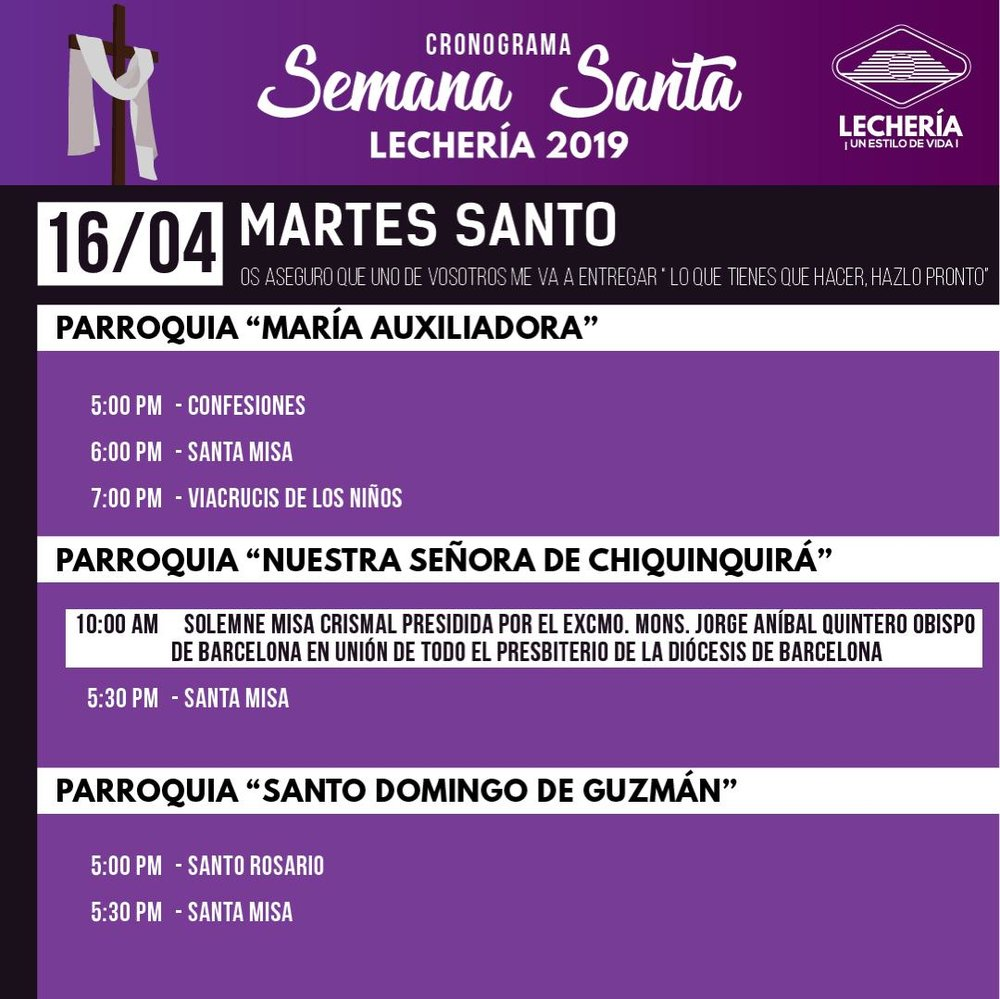Cronograma Semana Santa - Lechería 2019.2.jpeg