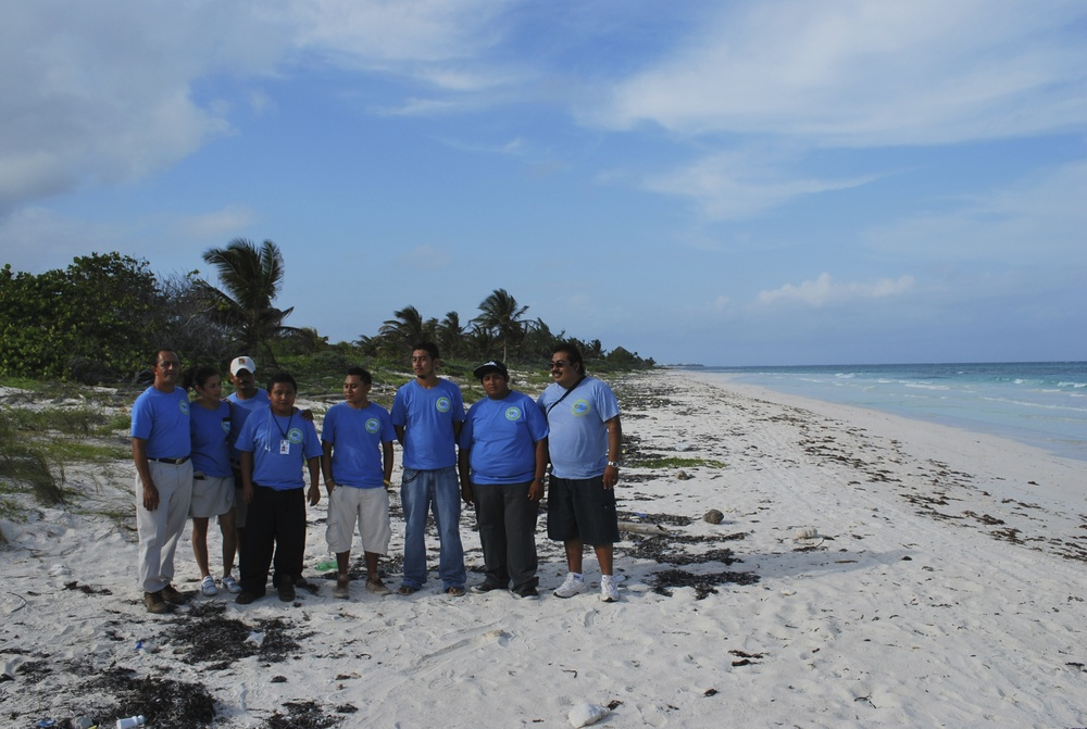 Flora, Fauna y Cultura staff on Tulum Beach